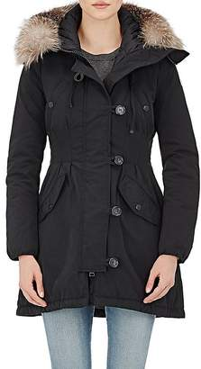 Moncler Women's Fur-Trimmed Down Aredhel Coat $2,180 thestylecure.com