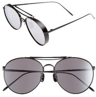 Women's Gentle Monster Big Bully 56Mm Aviator Sunglasses - Black Mirror $280 thestylecure.com