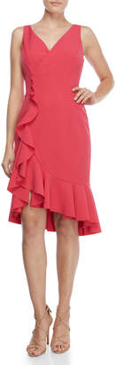 Vince Camuto Ruffle Hem Surplice Dress