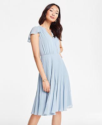 Ann Taylor Pleated Skirt Dress