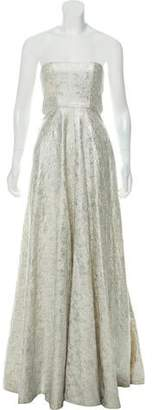 Alexis Strapless Patterned Gown