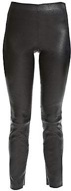 Theory Women's Bristol Leather Leggings
