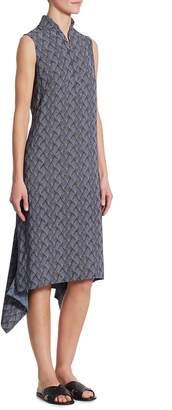 Akris Women's Las Rocas-Print Asymmetric Dress