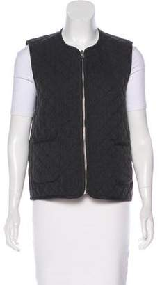 Elizabeth and James Quilted Zip-Up Vest