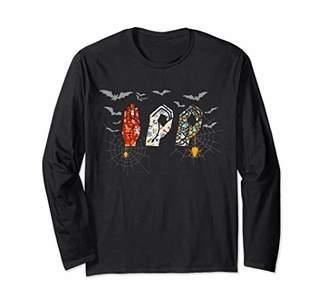 Vintage Boo Scary Creepy Colorful Deaf ASL Halloween Tee Long Sleeve T-Shirt