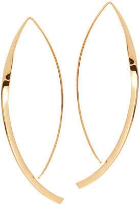 Lana Large 14K Twist Arch Hoop Earrings