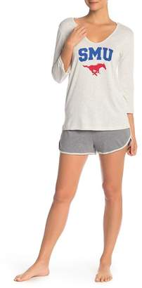 Munki Munki Southern Methodist University Long Sleeve Tee & Knit Shorts 2-Piece Pajama Set