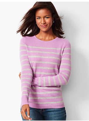 Talbots Cashmere Crewneck Sweater - Stripe