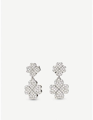 Folli Follie Miss Heart4Heart four-leaf clover sterling silver earrings