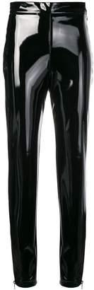 Balmain varnished slim trousers
