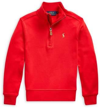 Ralph Lauren Childrenswear Little Boy's Stand-Collar Cotton Sweater
