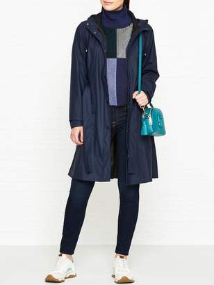 Rains Curve Trench Coat - Navy