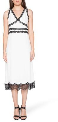 Women's Willow & Clay Lace Trim Midi Dress $99 thestylecure.com