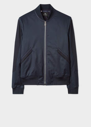 Paul Smith Men's Navy Cotton-Blend Bomber Jacket