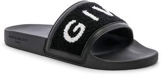 Givenchy Slide Sandals in Black & White | FWRD