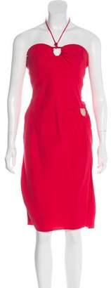 Giorgio Armani Strapless Knee-Length Dress