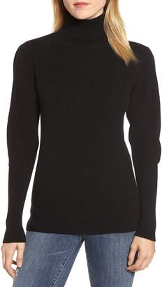 Velvet by Graham & Spencer Cashmere Puff Sleeve Turtleneck