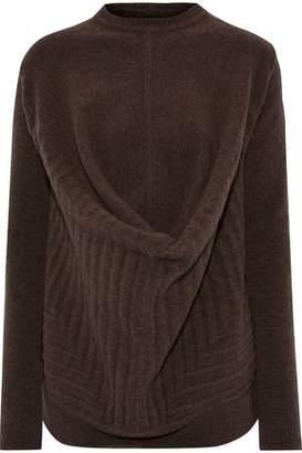Rick Owens Pelican Draped Brushed Wool-blend Sweater