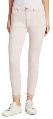 The Swooner Dagger Lace Hem Ankle Jeans