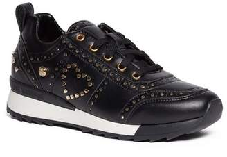 Love Moschino Embroidered Lace-Up Sneaker