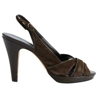 Banana Republic Brown Suede Sandals