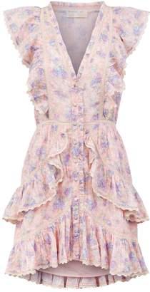 LoveShackFancy Love Shack Fancy India Floral Ruffle Dress