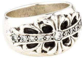 Chrome Hearts Diamond Floral Band