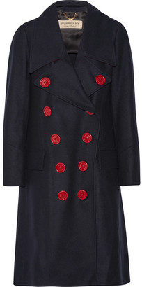 Double-breasted Wool Coat - Midnight blue