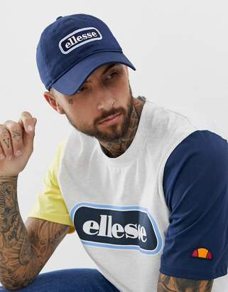 203028d25f6 Ellesse Jallon baseball cap with panel logo in navy