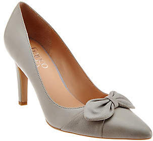 As Is Franco Sarto Pointed Toe Pumps with Bow Detail - Arabella $39 thestylecure.com