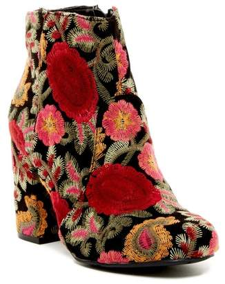 Mia Vail Embroidered Ankle Boot