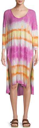 Free People Tie-Dyed Linen & Cotton Tunic