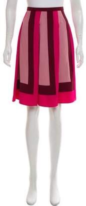 Tom Ford Leather-Trimmed Knee-Length Skirt