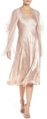 Petite Women's Komarov Lace & Charmeuse Dress With Shawl $388 thestylecure.com