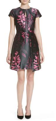 Ted Baker Jebby Splendor Jacquard Fit & Flare Dress