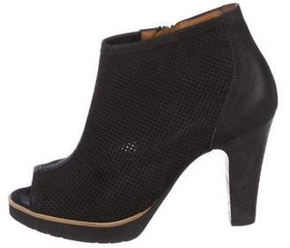 Paul Green Perforated Ankle Boots