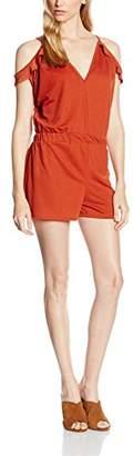 boohoo Women's Jen Open Shoulder Ruffle Playsuit
