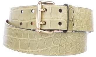 Ralph Lauren Alligator Dress Belt