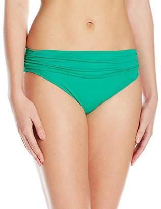 LaBlanca La Blanca Women's Island Goddess Shirred Band Hipster Bikini Swimsuit Bottom