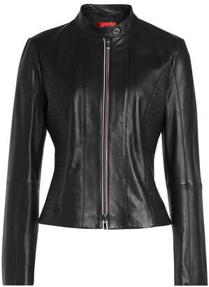 HUGO Linotte Leather Jacket