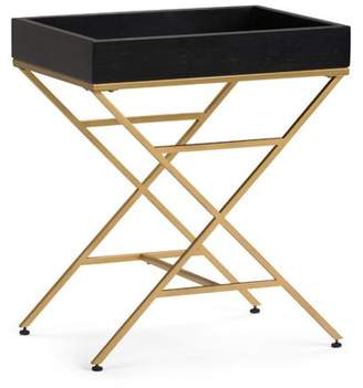 Simpli Home Moira Metal/Wood Accent Table