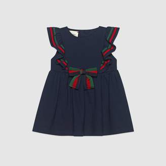 Gucci Baby cotton piquet dress with bow