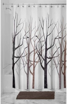 InterDesign Forest Fabric Shower Curtain, Various Sizes & Colors