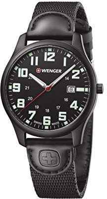 Wenger Men's 'City Active' Swiss Quartz Stainless Steel and Nylon Casual Watch