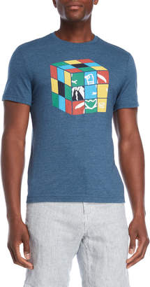 Original Penguin Blue Rubiks Cube Tee