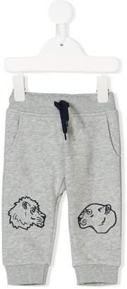 Kenzo animal printed track pants
