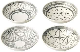 ED Ellen Degeneres by Royal Doulton ED Geometric Porcelain Bowls (Set of 4)