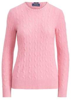 Ralph Lauren Cable-Knit Cashmere Sweater Candy Pink Xs