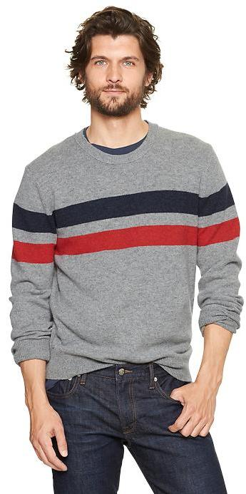 Gap Lambswool chest-stripe sweater