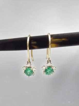 Kataoka Emerald Snowflake Earrings - Blossom